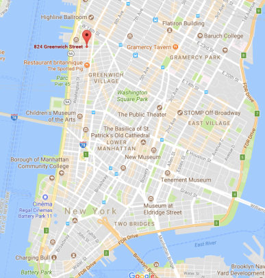 824 Greenwich street NYC Map