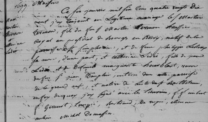 THEVENON avec LEDEE 1699 GRANDE ANSE