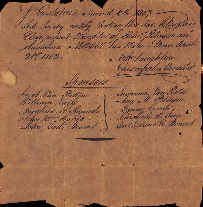 PETERSEN Eliza BPT 1807 Statia