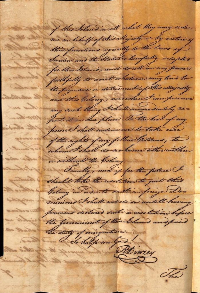 DINZEY Richard oath page 2