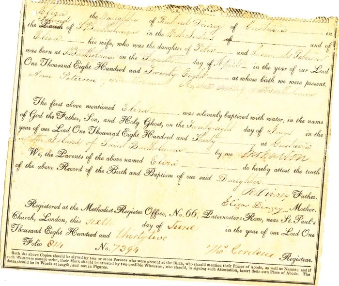 1830 - DINZEY ELIZA BATPHEM