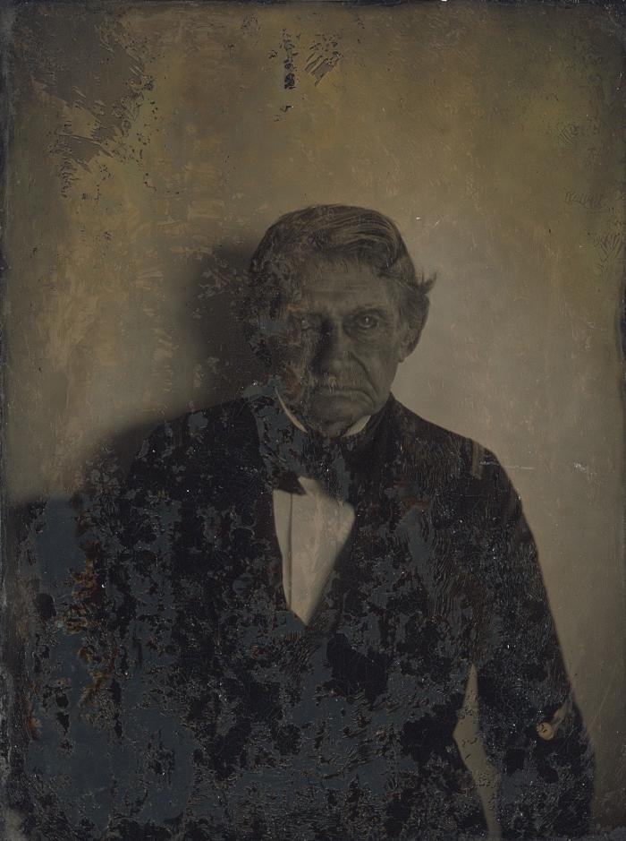 Porträtt av Bror August Ridderhjerta (1783-1865), 1861. Bror August var hamnmästare i Gustavia, Saint-Barthèlemy. Gift på ön 1811 med Marie Josephine Ridderhjerta, född d'Ostrées. Taget på Guldbröllopsdagen den 4 Februari 1861