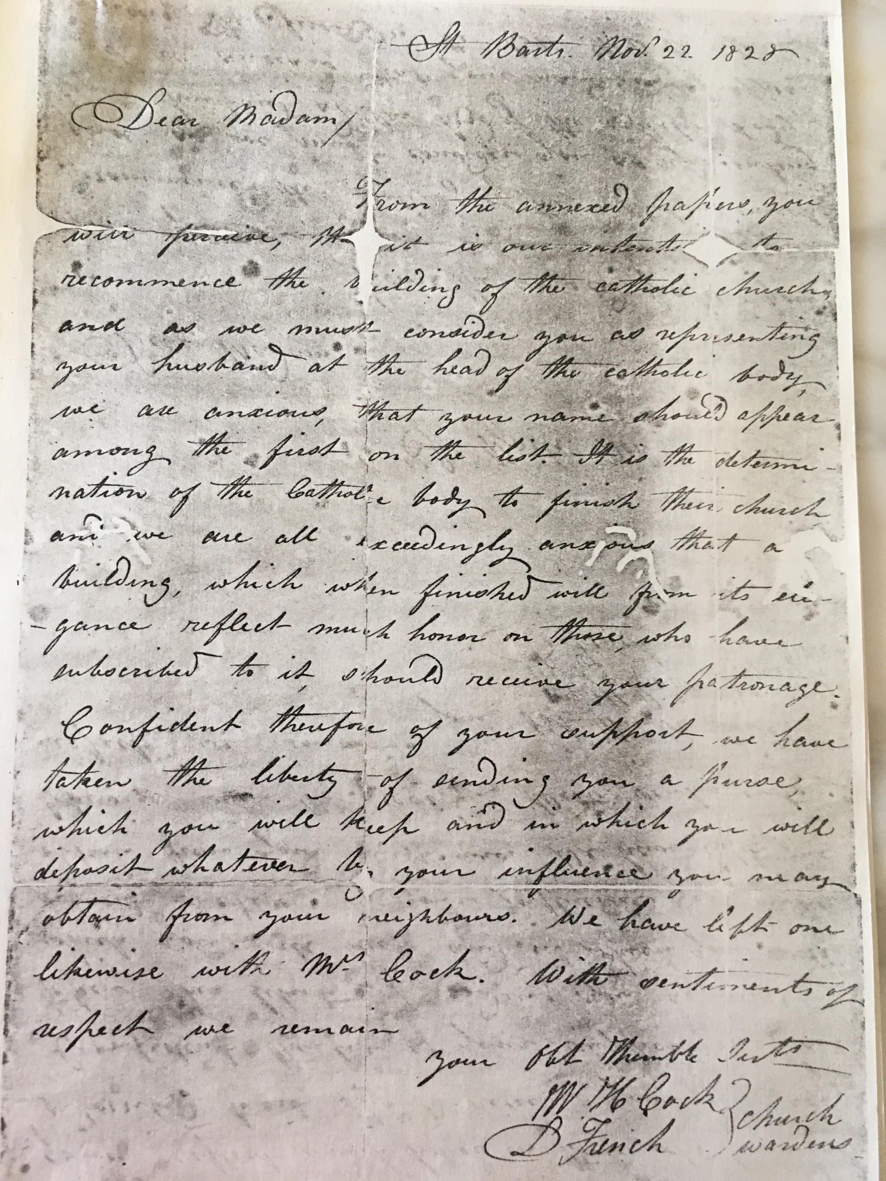 1828 church letter to Eizabeth WARNER-PORTELLY p 2